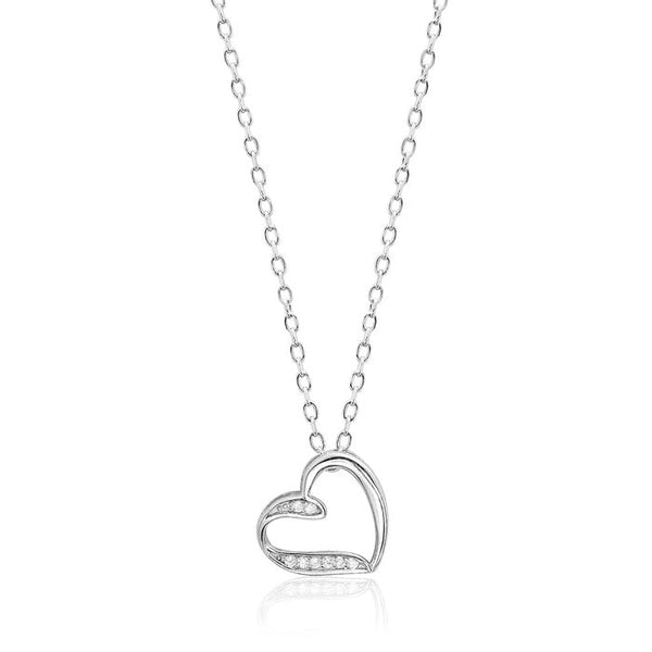 Lovely Sterling Silver Heart Shaped Necklace
