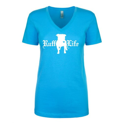 Ladies Pitty Ruff Life V-Neck