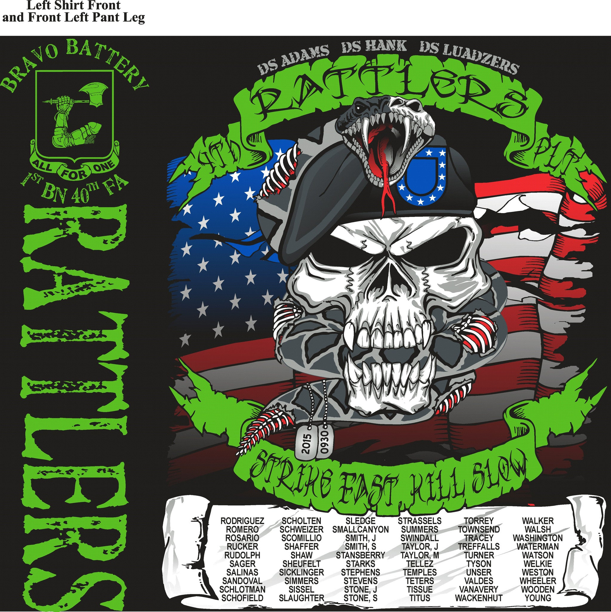 Platoon Shirts BRAVO 1st 40th RATTLERS SEPT 2015