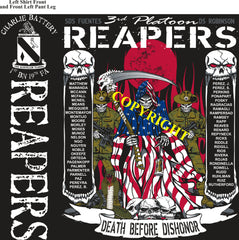 Platoon Shirts (2nd generation print) CHARLIE 1st 19th REAPERS APR 2019