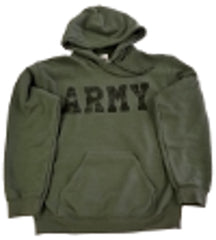Green Army Hooded Sweatshirt