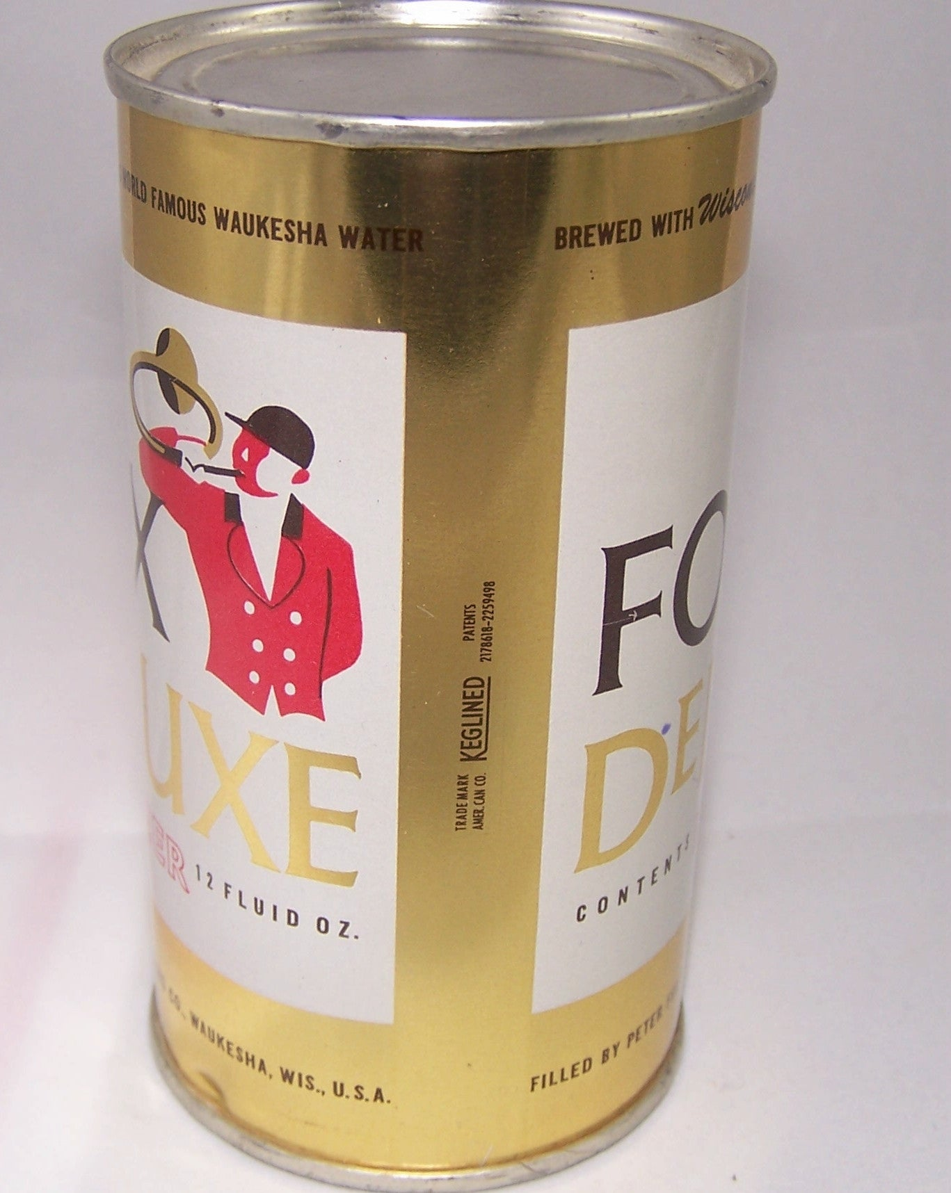 Fox Deluxe Beer, USBC 65-24, Rolled can, Grade A1+ Sold 5/3/15