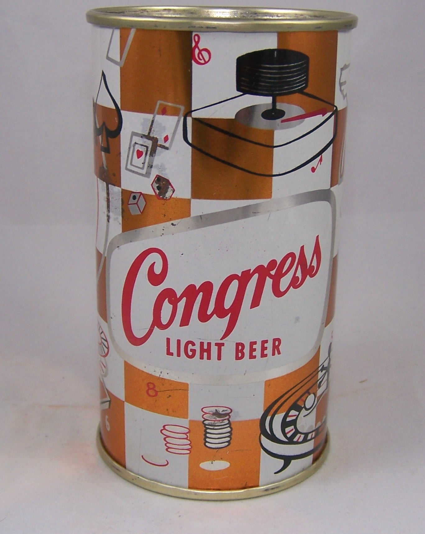 Congress Light Beer, (Indoor Games) USBC 50-29, Rolled,  Grade 1 Sold on 05/28/16