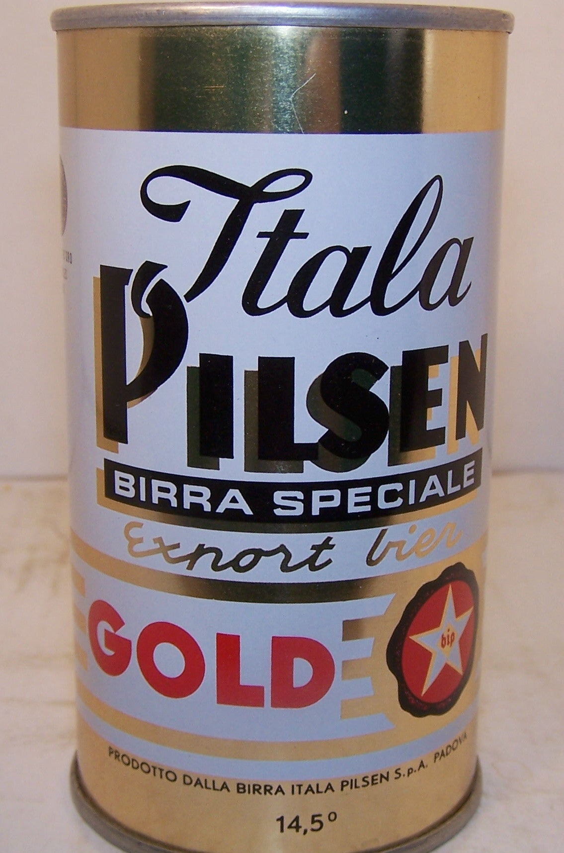 Itala Pilsen export Bier, can is rolled, Grade A1+ Sold on 10/11/15