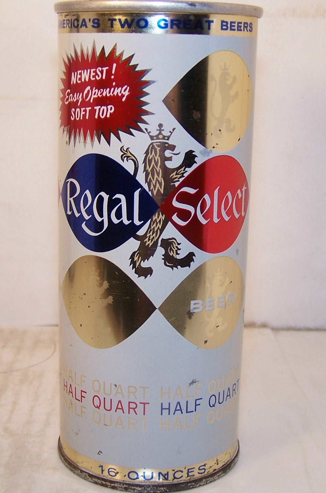 Regal Select Beer, Newest Easy Opening Soft Top, USBC 234-24, Grade 1/ 1- Sold on 2/11/15