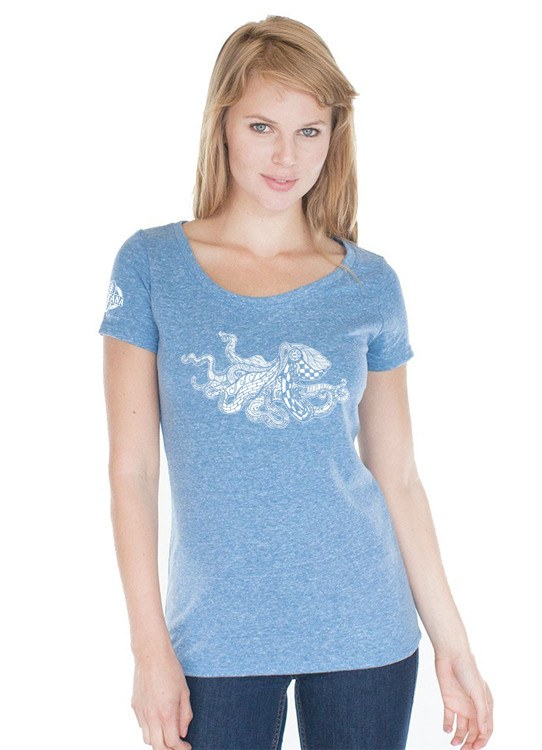 Shirts - Ventana Ventangle Pacific Octopus Scoop Neck T-Shirt