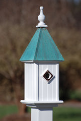 Copper Roof Bluebird House- Patina Finish