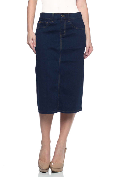 Dark Wash BG Denim Skirt