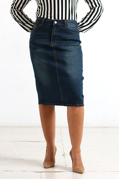 Dark Wash 'Addi' Denim Skirt