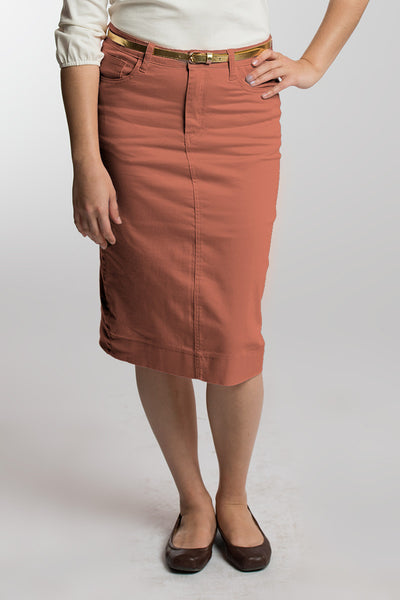 Sweet Chili (Mauve) Denim Skirt