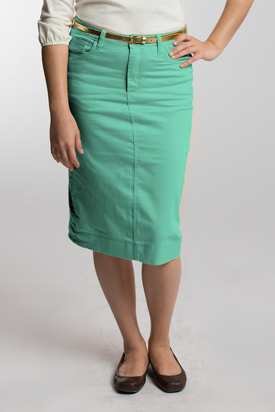 Sherbet Green (Pastel Green) Denim Skirt