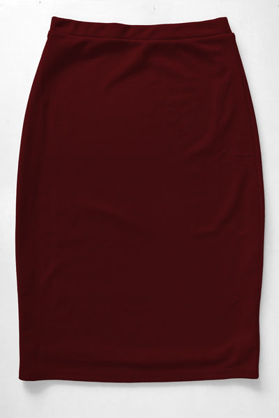 Burgundy Premium Knit Skirt