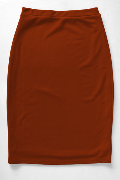 Burnt Orange Premium Knit Skirt