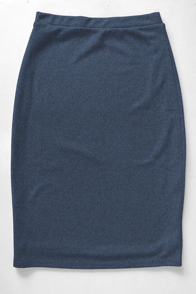 Denim Blue Premium Knit Skirt
