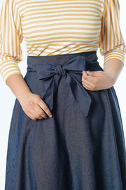 'Alisha' Denim Circle Skirt