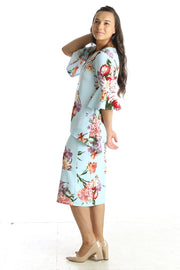 'Abigail' Baby Blue Floral Tunic (FINAL SALE)