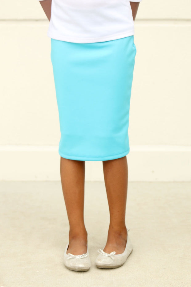 Girls 'Riley' Turquoise Skirt