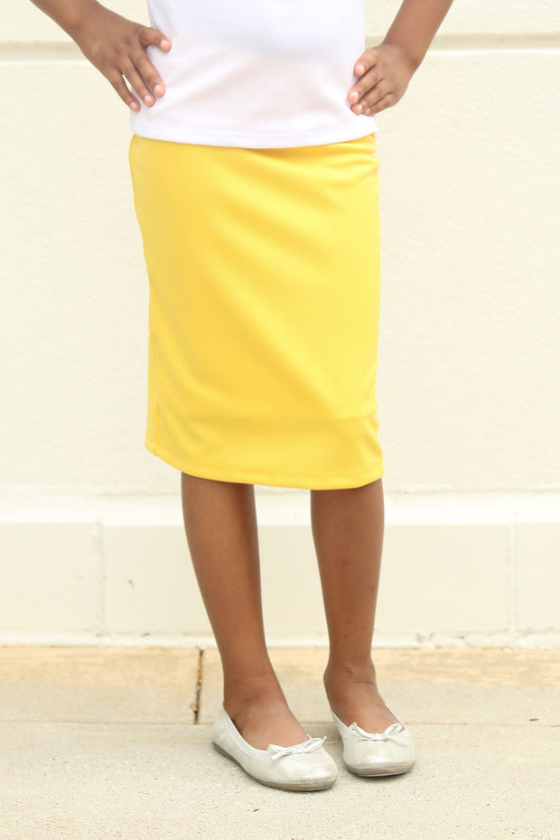 Girls 'Riley' Yellow Skirt