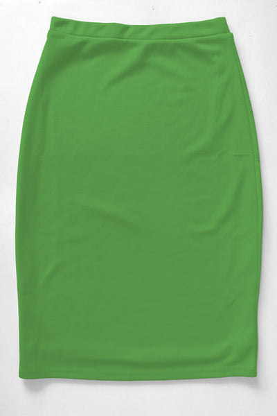 Kelly Green Brite Premium Knit Skirt
