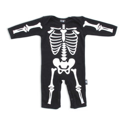 Six Bunnies Baby Playsuit - Skeleton - Badass Babies