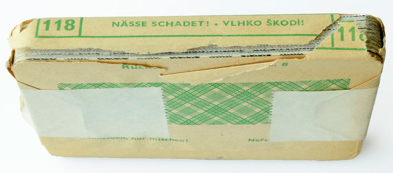 "Vintage, mid-century Czech ""Bohemian pattern"" cards - good, unused copy from Prague"