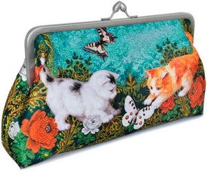 Victorian Kittens, 10 inch size clutch in dupion - Baba Store - 1