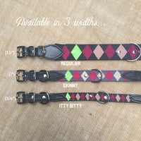 Boy O Boy Bridleworks Custom Dog Collar with Buckle Itty Bitty, Skinny and Regular Widths