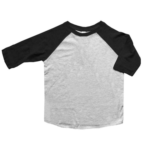 Black Raglan Shirt Gray Three Quarter Sleeve