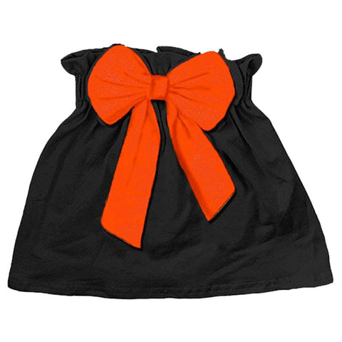 Black Skirt Orange Bow