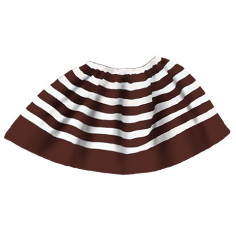 Brown White Stripe Skirt