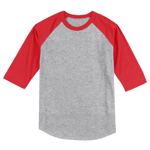 Gray Red Raglan Shirt Boy