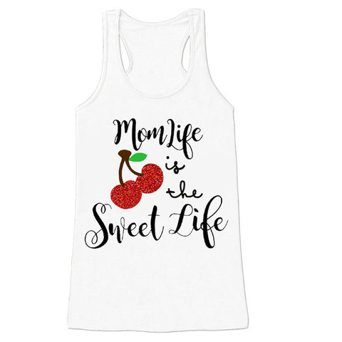 Mom Life Is The Sweet Life Cherry Tank Top