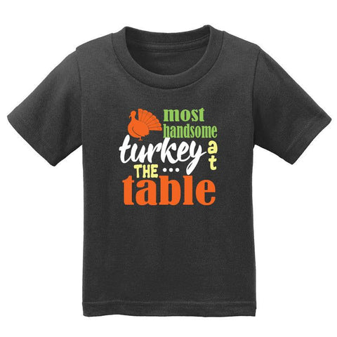 Most Handsome Turkey At Table Shirt Black Boy