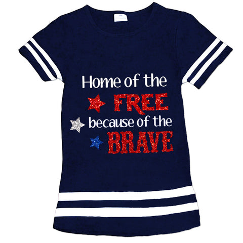 Navy Because Of The Brave Shirt
