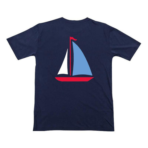 Navy Sailboat Shirt Boy