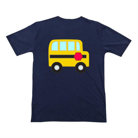 Navy School Bus Shirt Yellow Boy