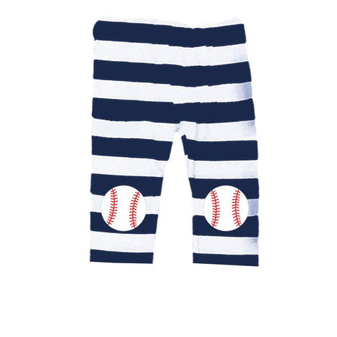 Navy Stripe Capri Baseball