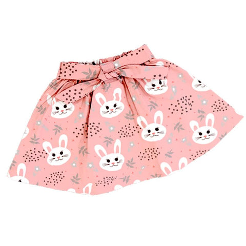 Peach Bunny Polka Dot Skirt