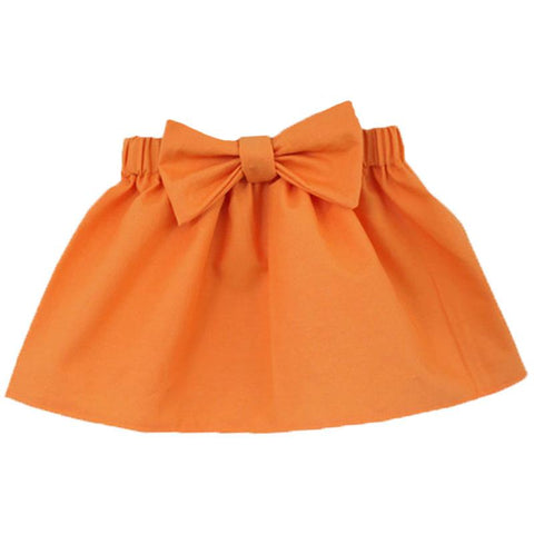 Pumpkin Orange Skirt Bow
