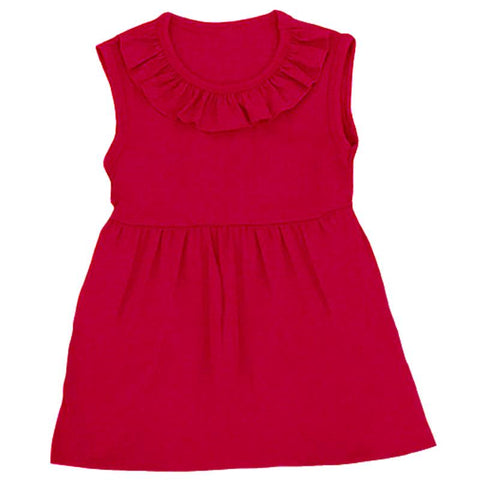 Red Ruffle Shirt Short Sleeve