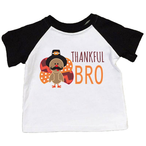Thankful Bro Shirt Turkey Raglan Boy