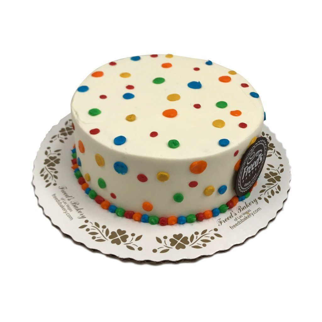 Cheerful Dots Theme Cake Freed's Bakery