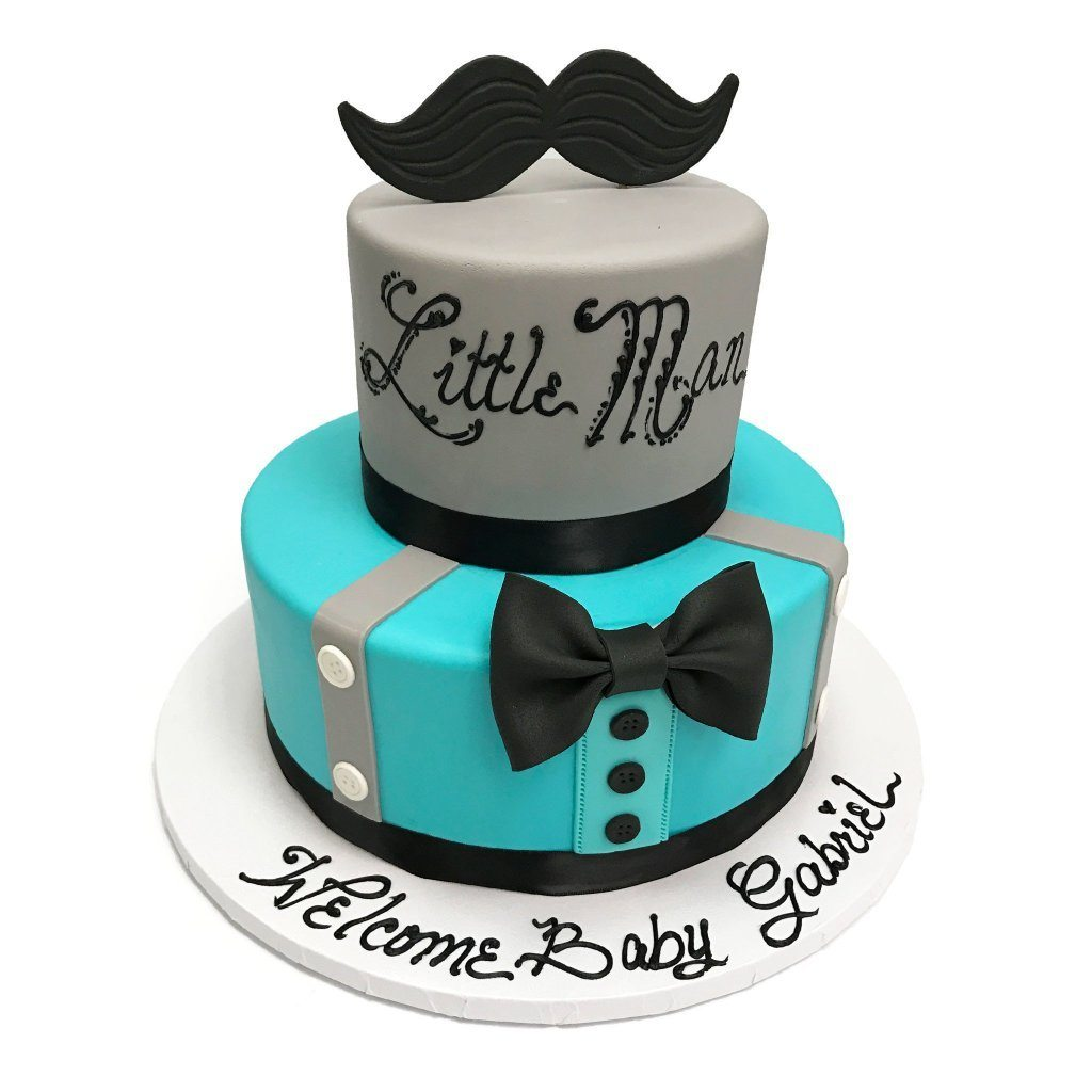 Little Man Suspenders Theme Cake Freed's Bakery