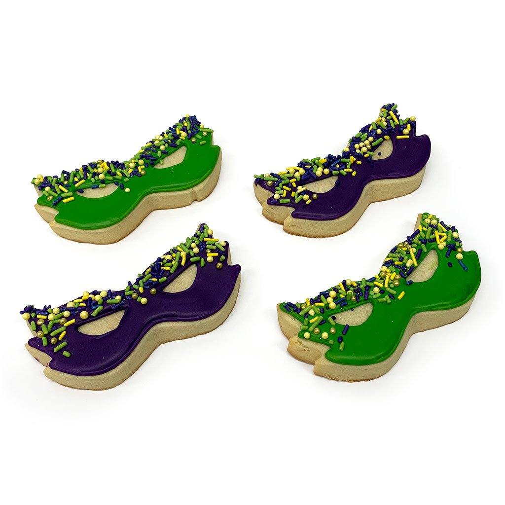 Mardi Gras Mask Cookies Cutout Cookie Freed's Bakery