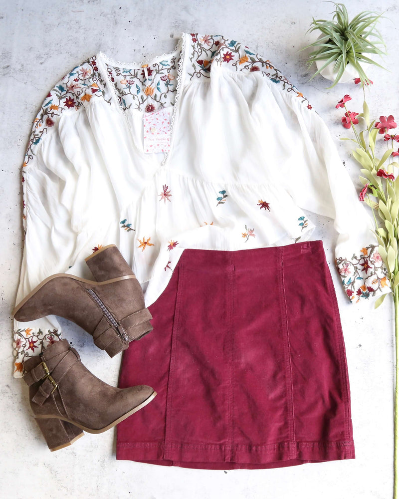 Free People - Modern Femme Corduroy Western Inspired Mini Skirt