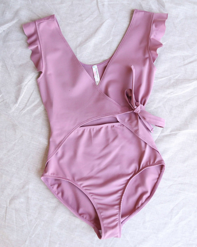 free people - movement streamline bodysuit - frosted berry