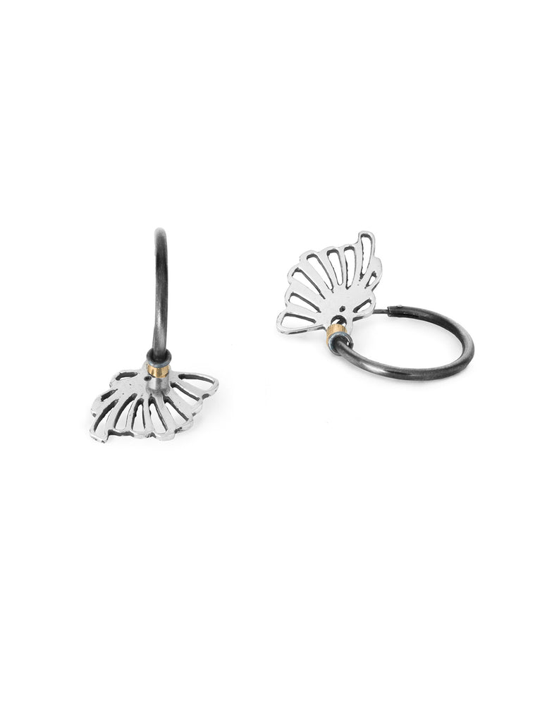 Silver Fan OneElement Hoop by May Hofman Jewellery