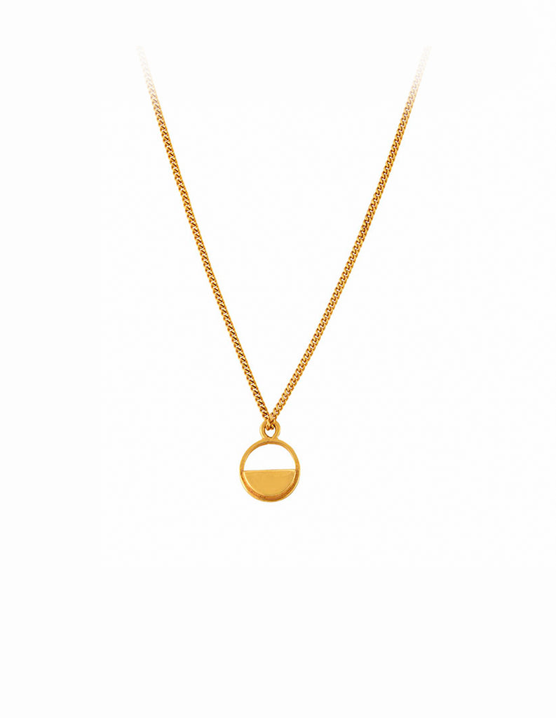 Gold Semicircle Necklace