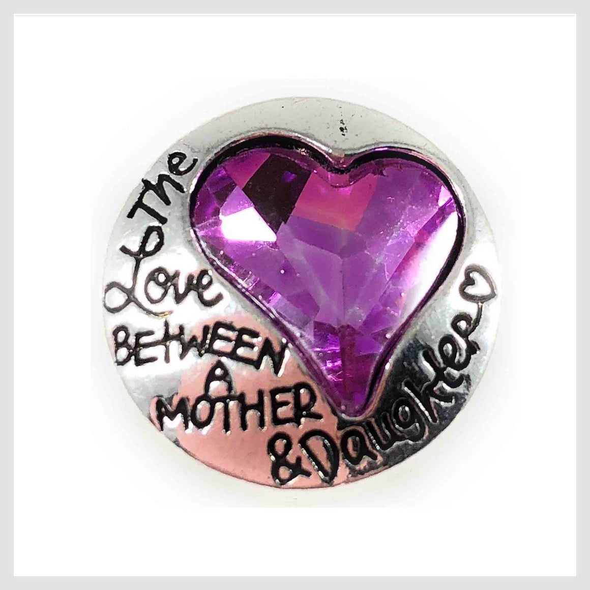 "Mother Daughter Purple Stone 20mm 3/4"" - Beads and Dangles"