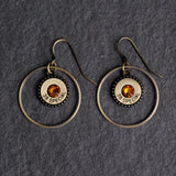 Steel Magnolia Southern charm Earrings gold/topaz
